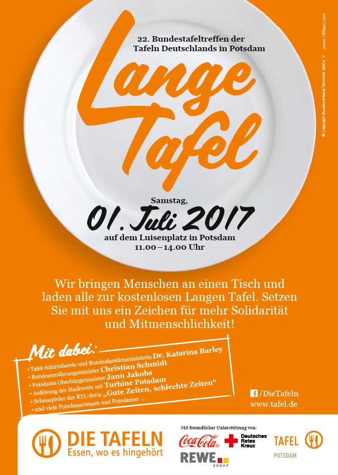 Die Tafeln - Einladung zur Langen Tafel nach Potsdam